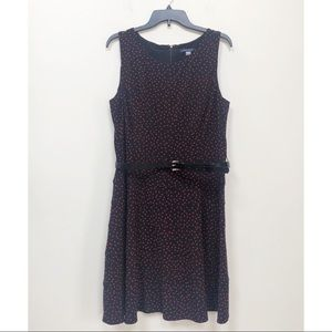Tommy Hilfiger Black Sleeveless Dress Red Dot